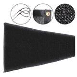 Fabric Mesh Fence Windscreen Privacy Screen W/ Brass Grommets 6'x50' Black