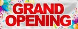 Best Deal Depot Grand Opening Banner Sign Store Signs Flag 3'x8' Color Bar And Balloon