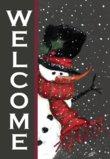 Toland Home Garden Snowman Welcome Garden Flag 110563