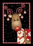 Toland Home Garden Candy Cane Reindeer Garden Flag 111238