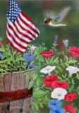 Patriotic Hummingbird Garden Size 12