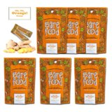 Barefood Ginger Candy - 100% Natural Chewy - Orange Ginger 6 Packs of 1.25oz