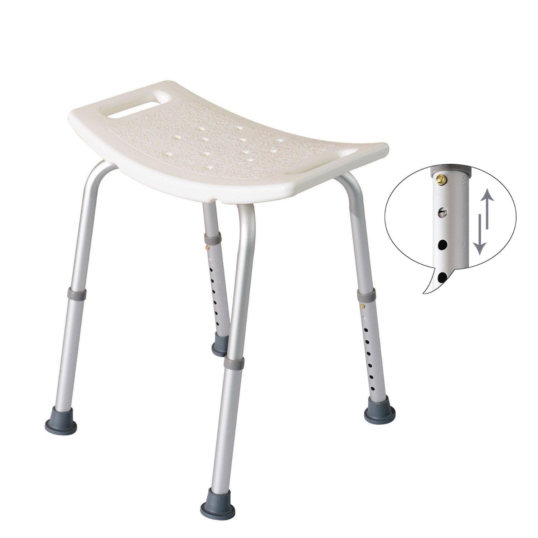 Ergonomic Round Adjustable Medical Shower Stool Bath Chair Bathtub ...