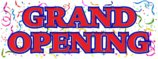 GRAND OPENING BANNER SIGN new store sign signs