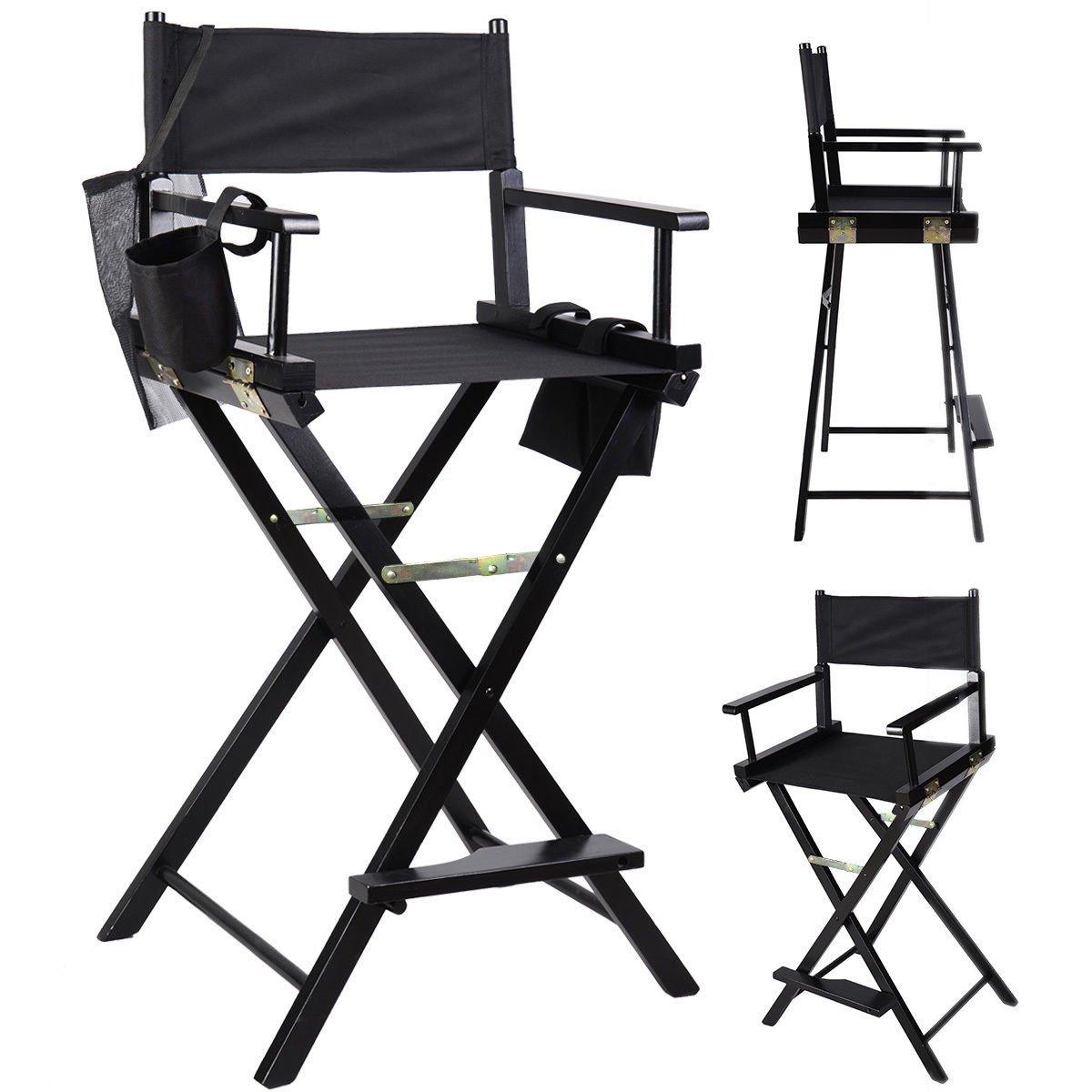 Professional Makeup Artist Directors Chair Wood Light Weight Foldabl.