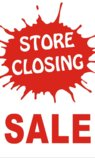 3ftX5ft STORE CLOSING SALE Banner Sign
