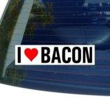 I Love Heart BACON - Window Bumper Sticker