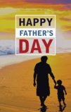 Happy Father's Day Father And Son At The Beach Garden Flag Decorative Flag - 12.5