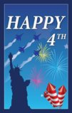Patriotic Theme Happy July 4th With Statue Of Liberty Garden Flag Decorative Flag - 12.5