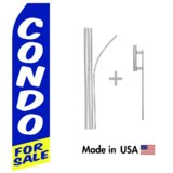 Condo For Sale Econo Flag | 16ft Aluminum Advertising Swooper Flag Kit with Hardware