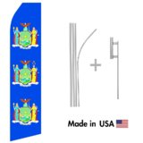 New York Flag Econo Flag | 16ft Aluminum Advertising Swooper Flag Kit with Hardware