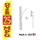 Over 25 MPG Econo Flag | 16ft Aluminum Advertising Swooper Flag Kit with Hardware