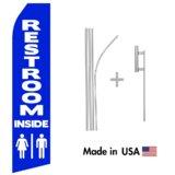 Restroom Inside Econo Flag | 16ft Aluminum Advertising Swooper Flag Kit with Hardware