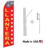 Llantera Econo Flag | 16ft Aluminum Advertising Swooper Flag Kit with Hardware