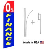 0% Finance Econo Flag | 16ft Aluminum Advertising Swooper Flag Kit with Hardware