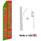 Reporte De Impuestos Econo Flag | 16ft Aluminum Advertising Swooper Flag Kit with Hardware