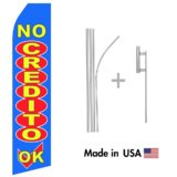 No Credit OK! Econo Flag | 16ft Aluminum Advertising Swooper Flag Kit with Hardware
