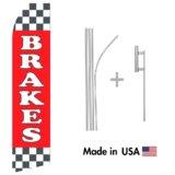 Brakes Service Econo Flag   16ft Aluminum Advertising Swooper Flag Kit with Hardware