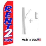 Rent 2 Own Econo Flag | 16ft Aluminum Advertising Swooper Flag Kit with Hardware