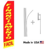 Financiamento Facil Econo Flag | 16ft Aluminum Advertising Swooper Flag Kit with Hardware