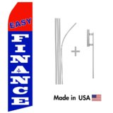 Easy Finance Econo Flag | 16ft Aluminum Advertising Swooper Flag Kit with Hardware