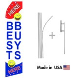 Best Buys Here Econo Flag | 16ft Aluminum Advertising Swooper Flag Kit with Hardware