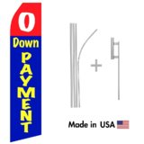 No Down Payment Econo Flag | 16ft Aluminum Advertising Swooper Flag Kit with Hardware