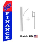Easy Finance Econo Flag | 16ft Aluminum Advertising Swooper Flag Kit with Hardware