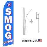 Smog Check Econo Flag | 16ft Aluminum Advertising Swooper Flag Kit with Hardware