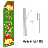 Christmas Sale Econo Flag | 16ft Aluminum Advertising Swooper Flag Kit with Hardware