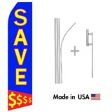 Save $$$ Econo Flag | 16ft Aluminum Advertising Swooper Flag Kit with Hardware