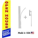 Open House Real Estate Econo Stock Flag
