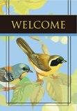 welcome Flag With Two Birds on Tree Branch Garden Flag Decorative Flag - 12.5